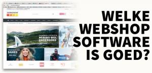 Welke webshop software is goed?