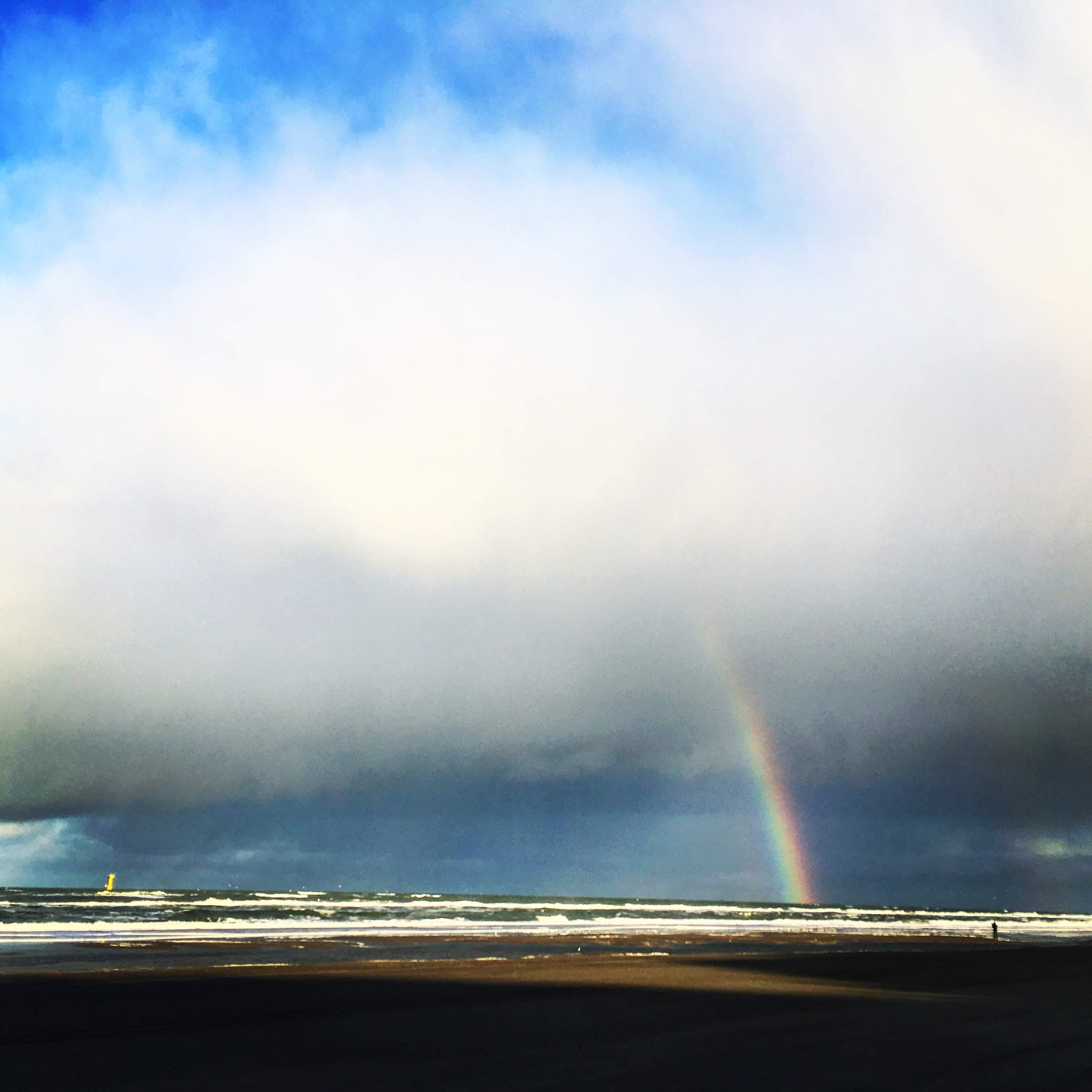 Een foto van het Noordzeestrand bij De Koog op Texel.