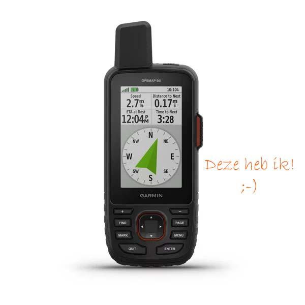 De Garmin GPSMAP 66st.