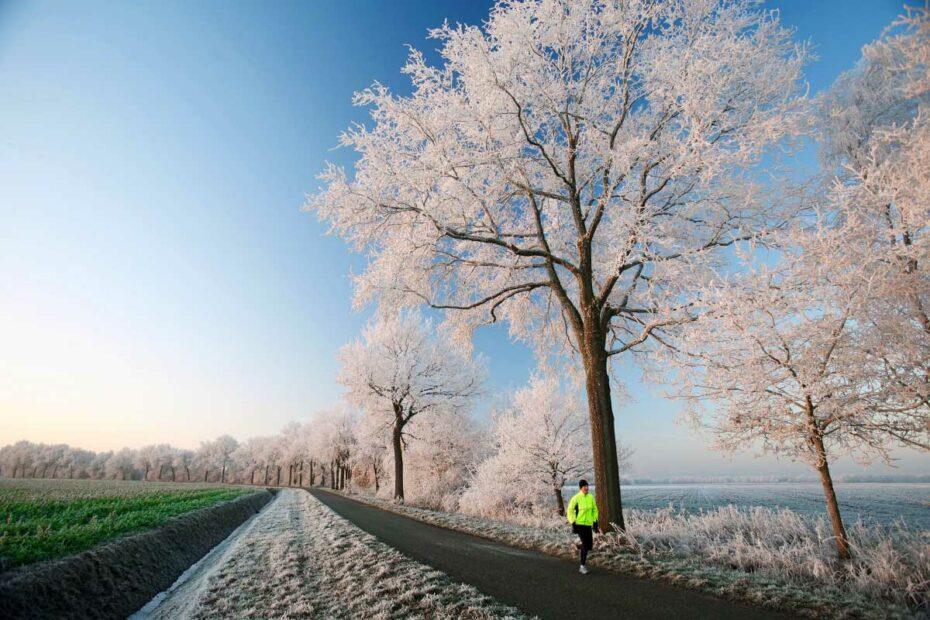 Compressie sokken hardlopen in de winter.